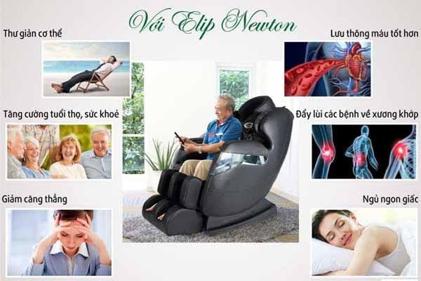 Ghế massage mang lại nhiều chức năng hữu ích